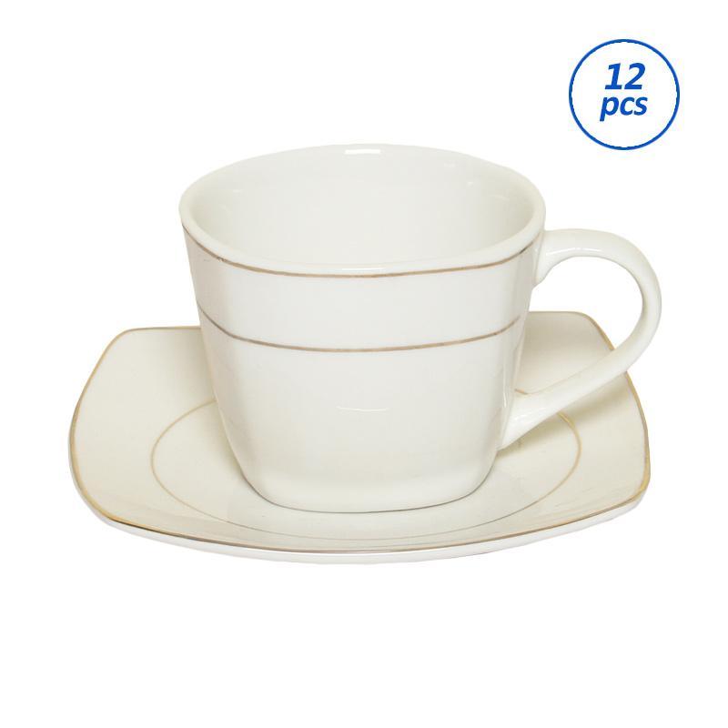 Nomuri Cangkir Set Square Cup & Saucer Lismas [12 pcs]
