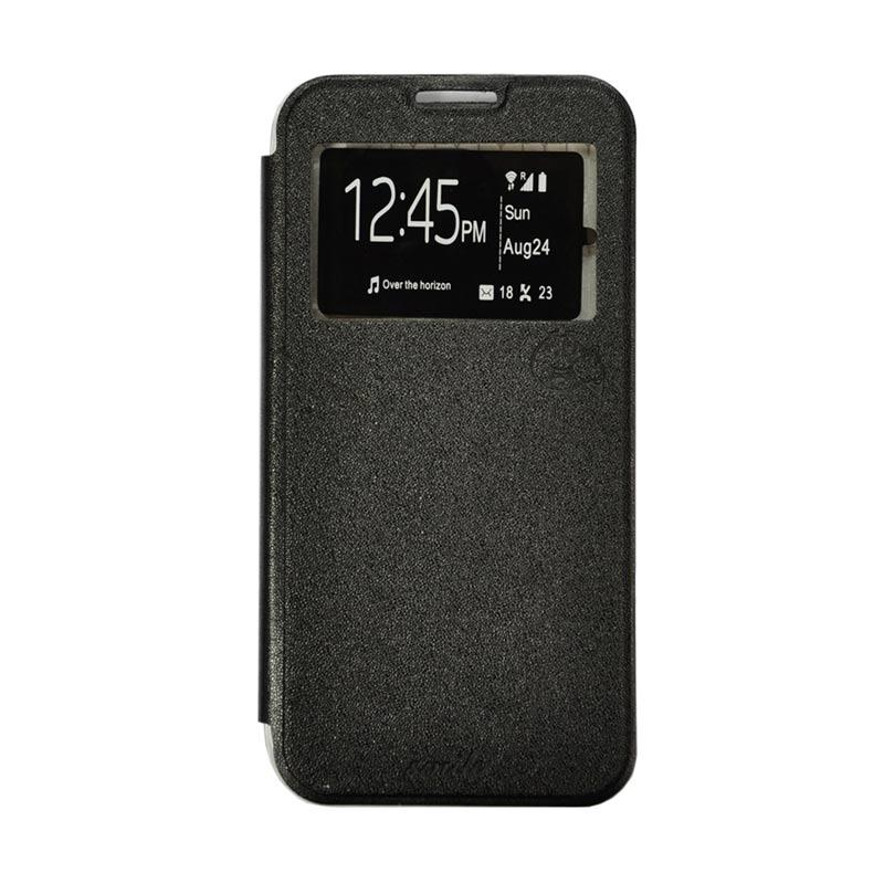 Smile Flip Cover Casing for Asus Zenfone Selfie ZD551KL - Hitam