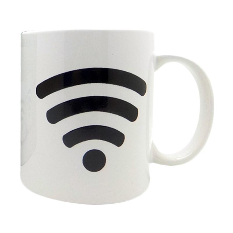 harga BestChoice Bunglon Motif Wifi Magic Mug - Putih Blibli.com