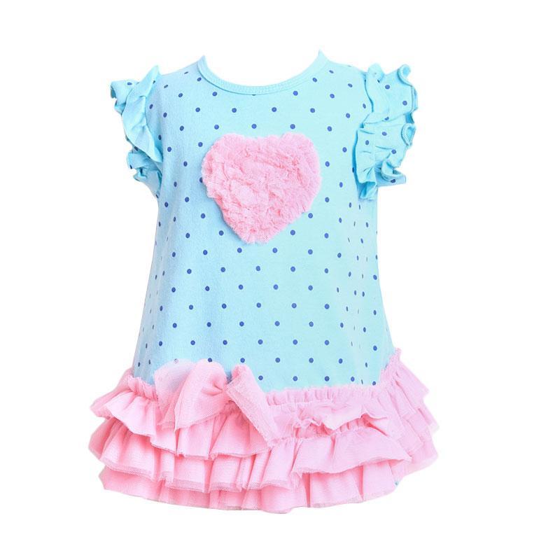 Chloe Babyshop F906 Dress Love Tutu + Pant - Blue