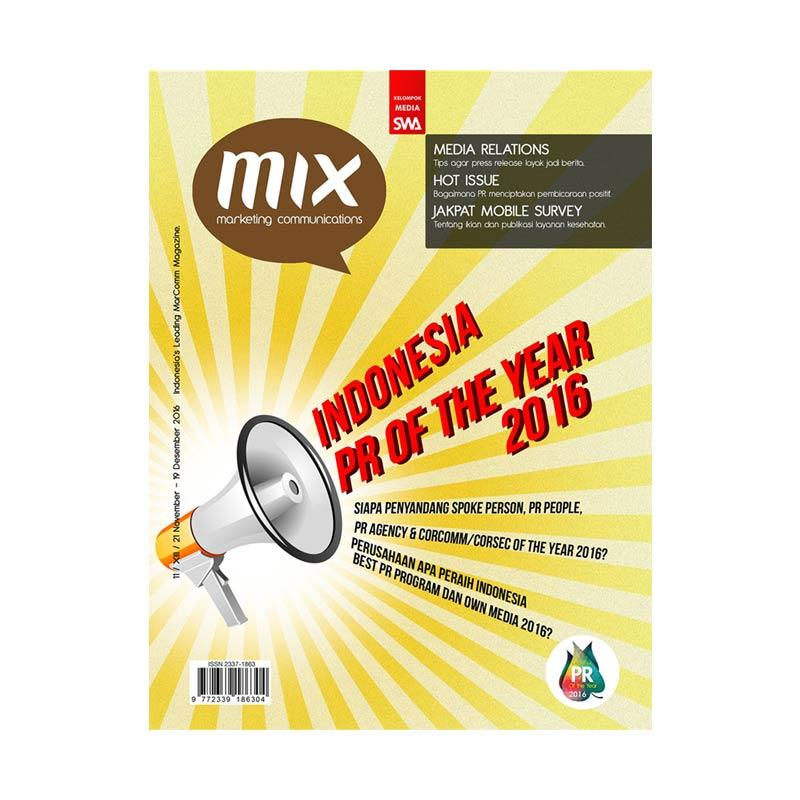 MIX Edisi 11 - 2016 21 November - 19 Desember 2016 Indonesia PR Of The Year 2016 Majalah