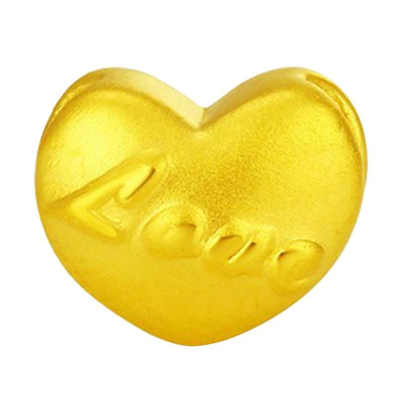 Tiaria Golden Love Gold Charm Pendant 24K Bandul Hati Emas