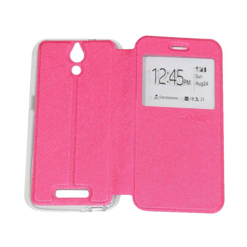 harga Ume Flipshell / Flipcover Casing for Coolpad Power E580 Leather Case / Sarung HP / Sarung Handphone / View - Pink Blibli.com