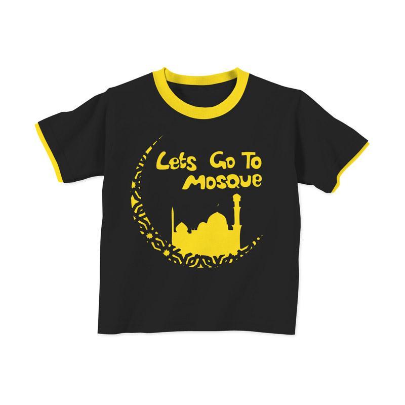 Aitana AiK-16-005 Mosque Kids Kaos Muslim Anak Laki Laki - Hitam