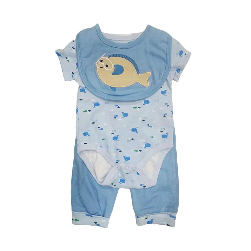 Chloebaby Shop F940 Carter's Fish Jumper 3in1 - Blue