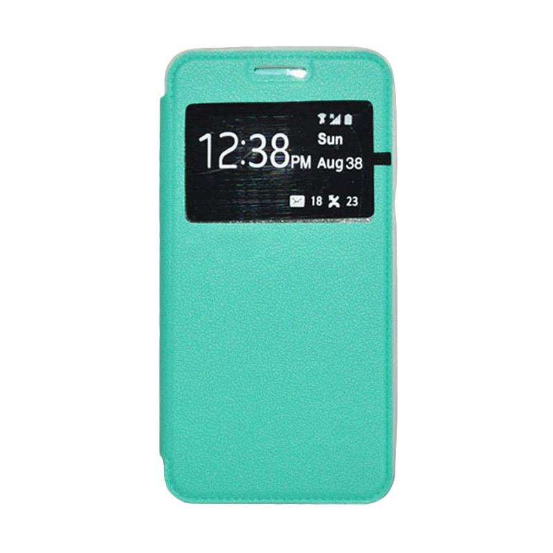 OEM Book Cover Leather Casing for Samsung Galaxy E7 - Green