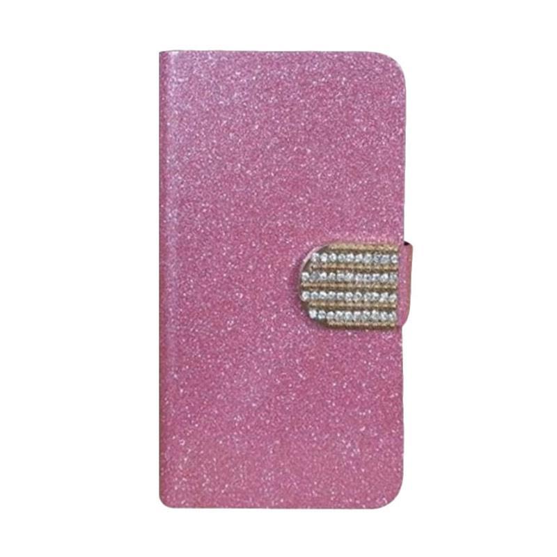 OEM Case Diamond Cover Casing for Huawei Ascend P6 - Merah Muda