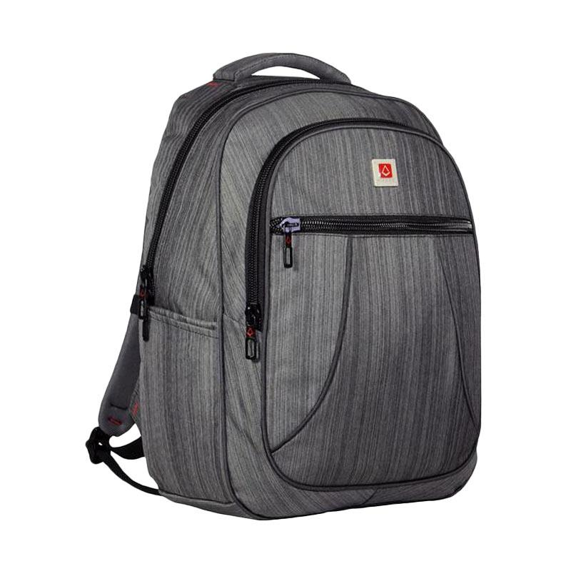 Polo Carion 730049 Tas Ransel Laptop - Abu + Raincover