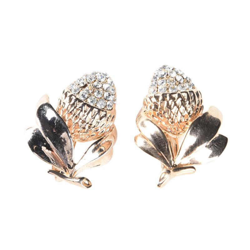 1901 Jewelry G0330002.GW22 Andhara Clip Anting - Gold [Lapis Emas 22K]