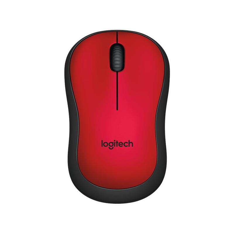 Logitech M221 Original Silent Mouse Wireless - Merah