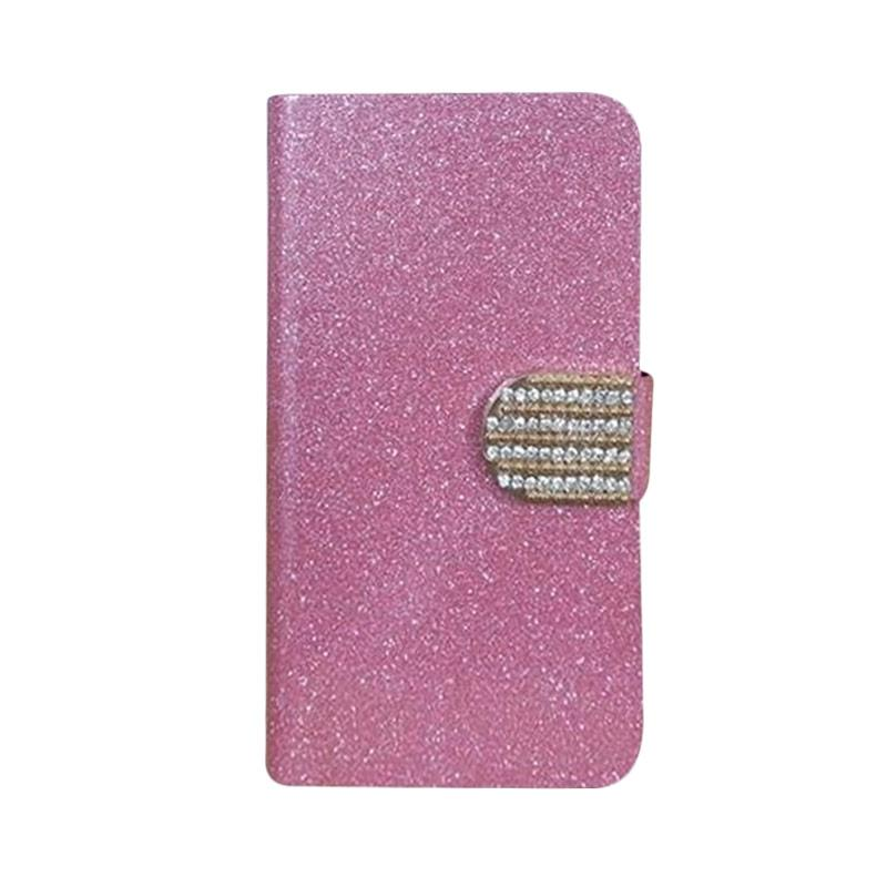 OEM Case Diamond Cover Casing for Sony Xperia E3 - Merah Muda