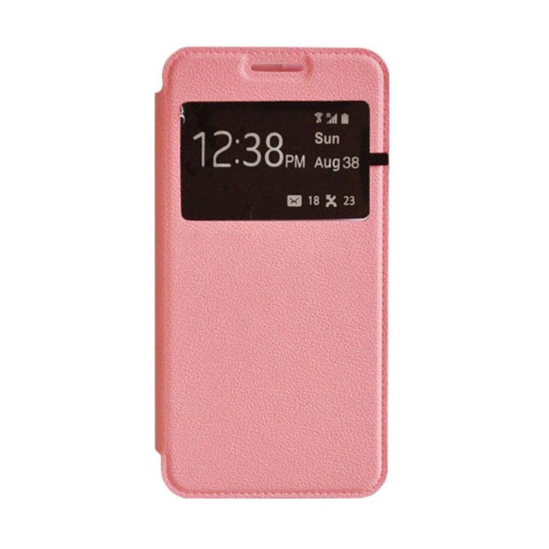 OEM Leather Book Cover Casing for Xiaomi Redmi Note 2 - Pink