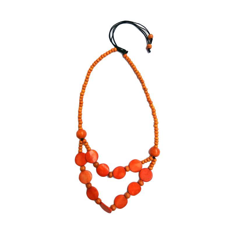 Tata Bali Shop 274 Kalung Fashion Wanita Khas Bali - Orange