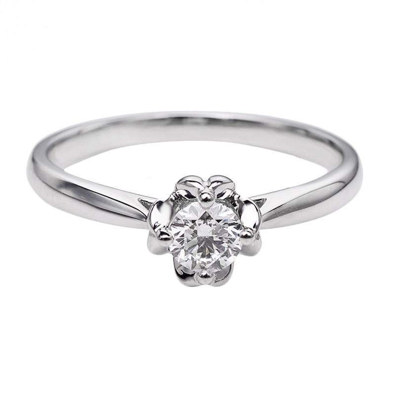 Tiaria DHTXDFJ041 Cincin Emas Putih Berlian - White Gold [18K]
