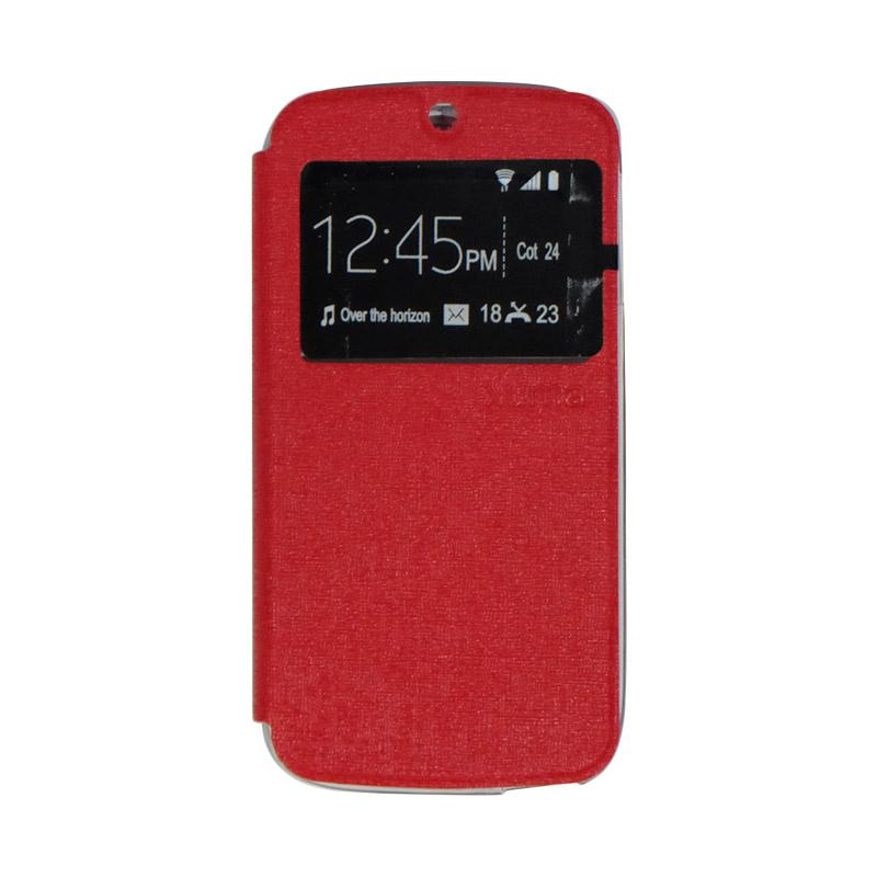 Ume Flipshell Flipcover Casing for Acer Liquid Jade S55 - Red