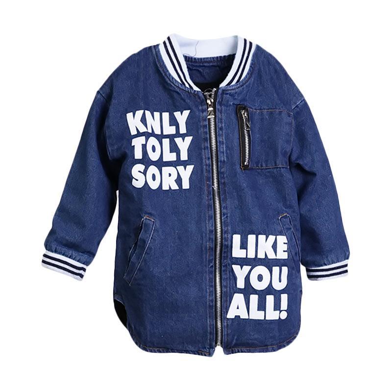 Chloebaby Shop Korea Trendy F956 Jaket Anak - Denim