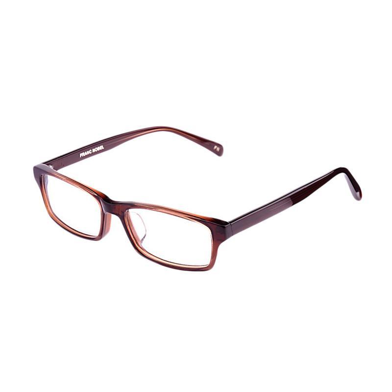 Franc Nobel 041522 Unisex Fitz Chesnut Transparent Kacamata - Brown