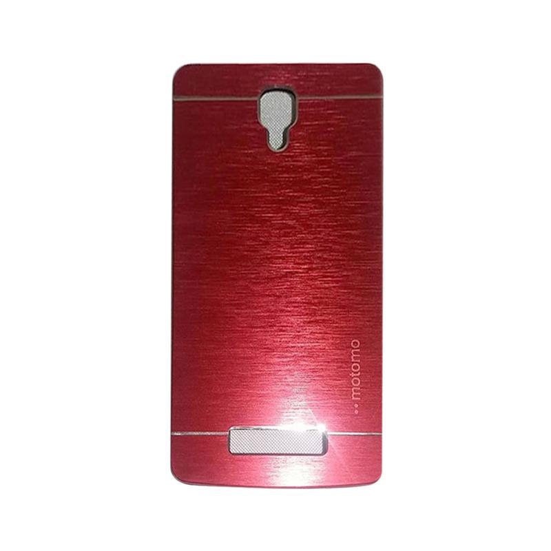 Motomo Metal Hardcase Backcase Casing for Lenovo A1000 - Red