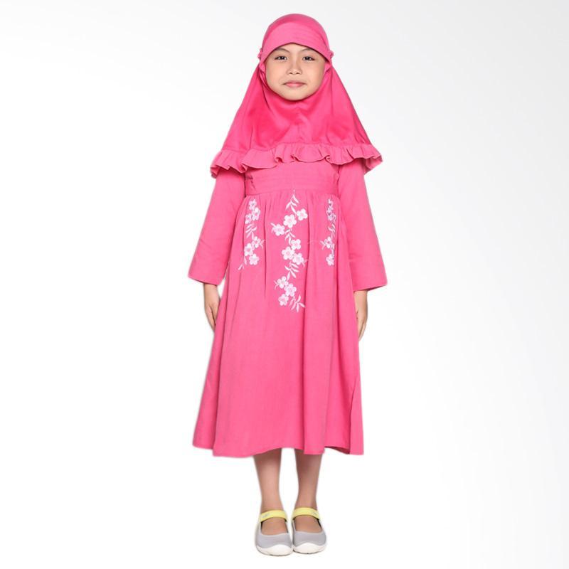 Pretty Girl 2Fantase Dress Muslim Anak - Pink