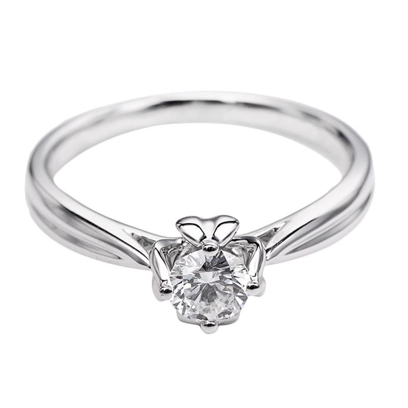 Tiaria DHTXDFJ042 Cincin Emas Putih Berlian - White Gold [18K]
