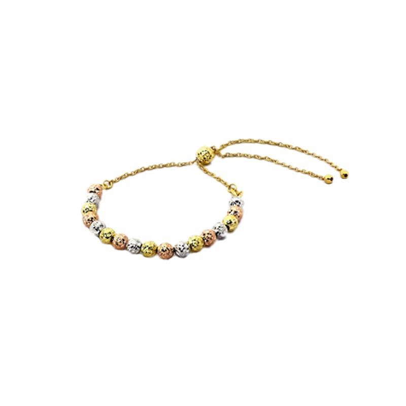 Etched  Gelang Emas Kadar 75 - Gold Bracelet-WHIZLIZ