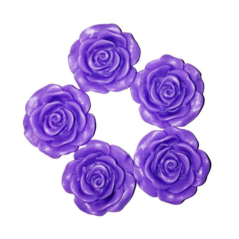 harga Anneui Bahan Kerajinan Tangan Mawar Clay - Purple [2 cm/ 5 pcs] Blibli.com