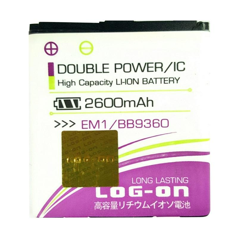 Log On Double Power Baterai for Blackberry BB 9360 [2600 mAh]