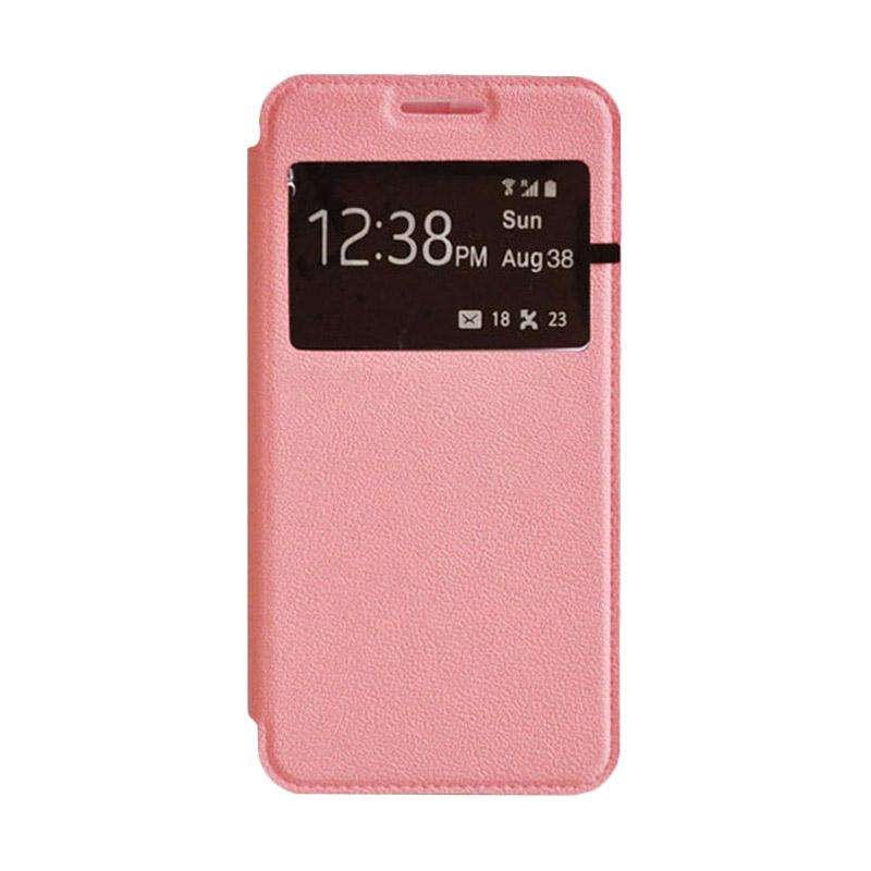 OEM Leather Book Cover Casing for Samsung Galaxy S5 - Pink