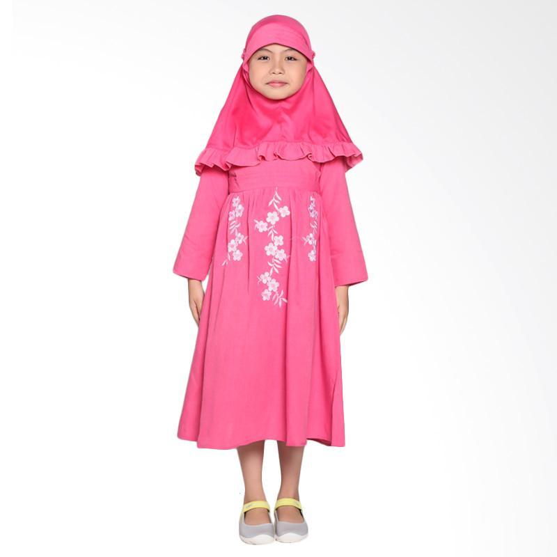 Pretty Girl 3 Dress Muslim Anak - Fantase Pink