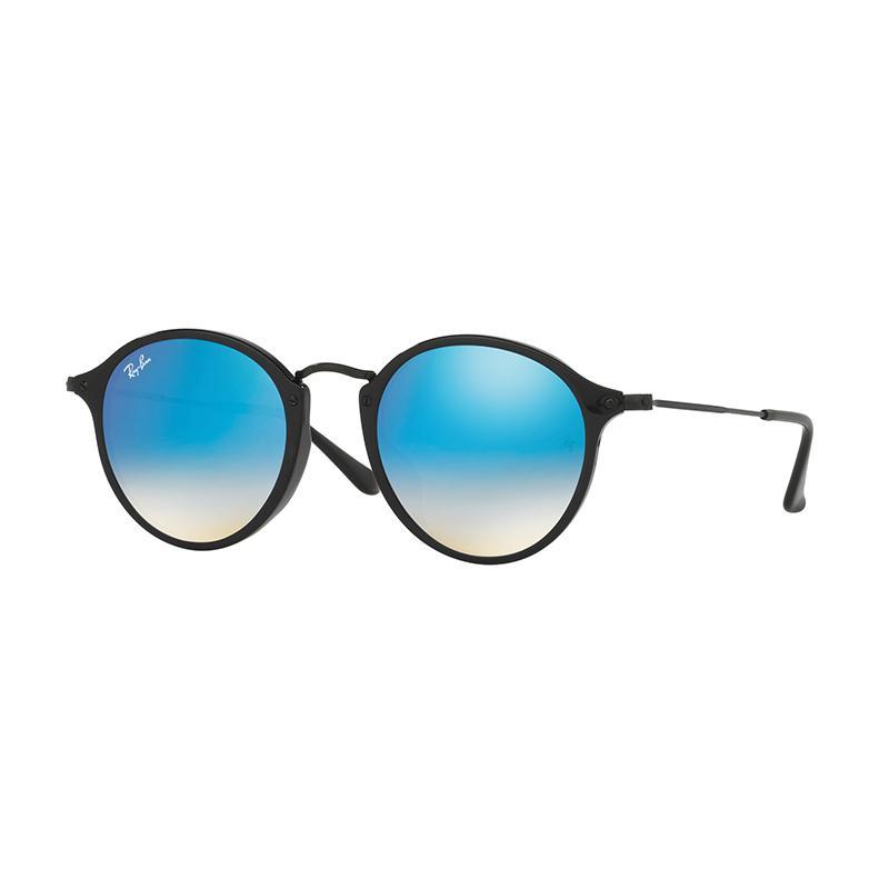 Ray-Ban Rb2447F - Shiny Black [901/4O/Size 52/Mirror Gradient Blue]