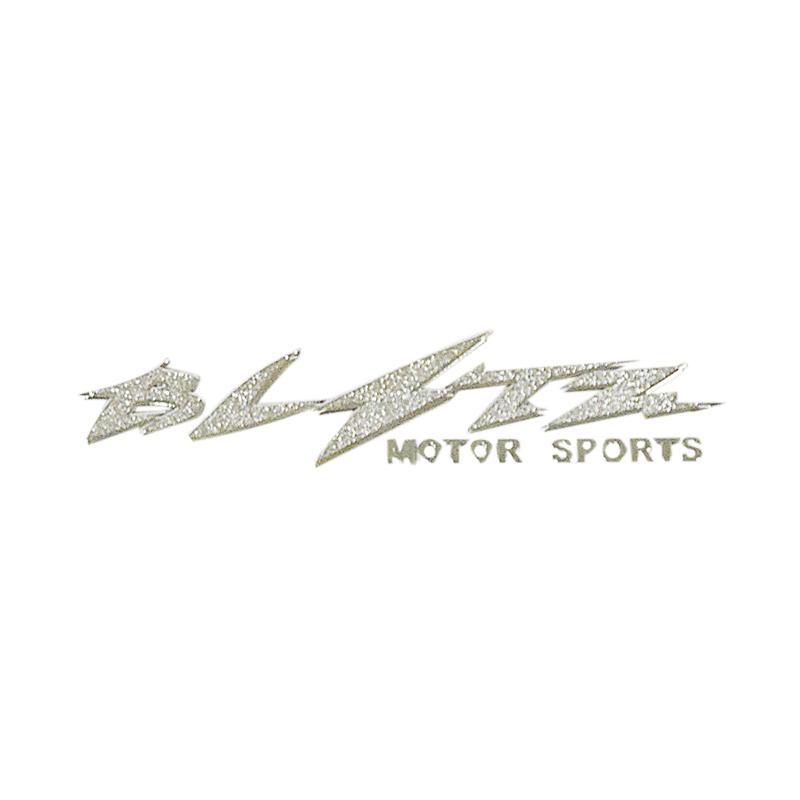 SIV Blitz Motor Sports Sticker - Silver [Small/2 pcs]