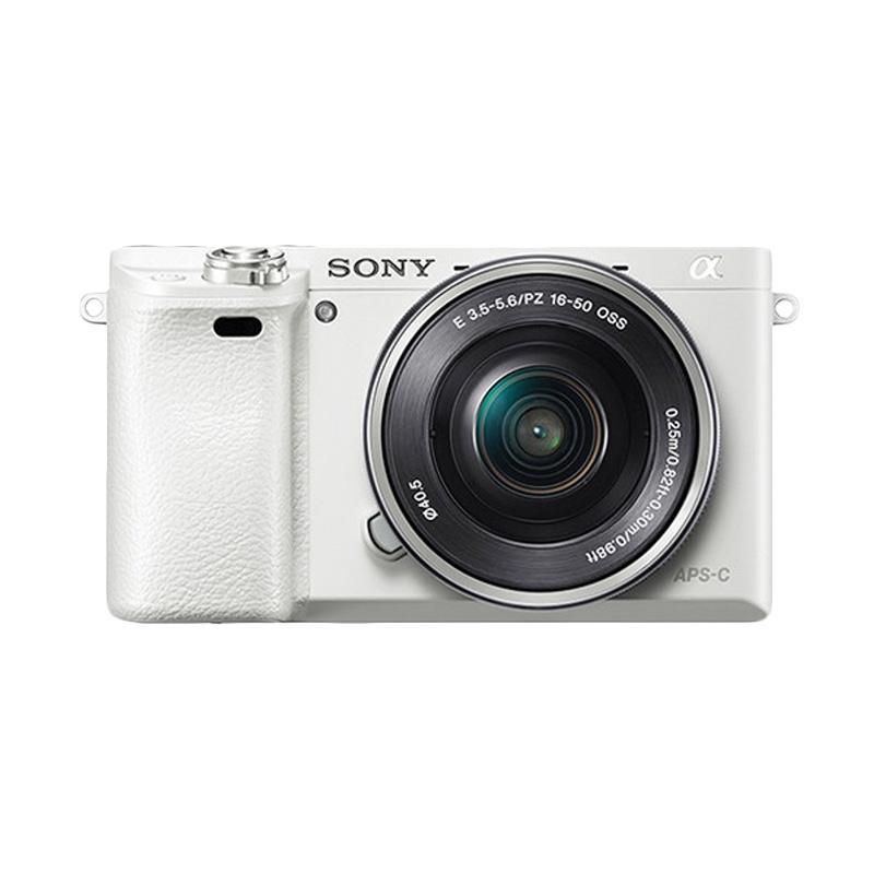 harga SONY Alpha a6000L Kit Lens 16-50mm + Lens E 35mm f1.8 Kamera Mirrorless - Putih Blibli.com