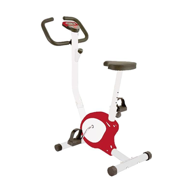 harga Total Fitness TL-8215 Sepeda Statis Belt - Merah Blibli.com