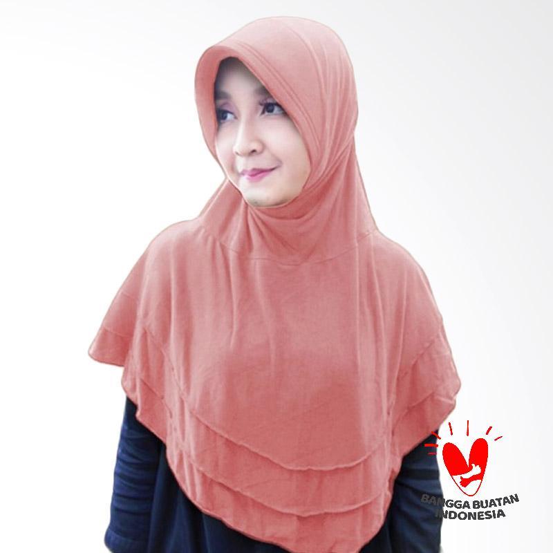 Milyarda Hijab Bergo Plat Kerudung Instant - Dusty Pink