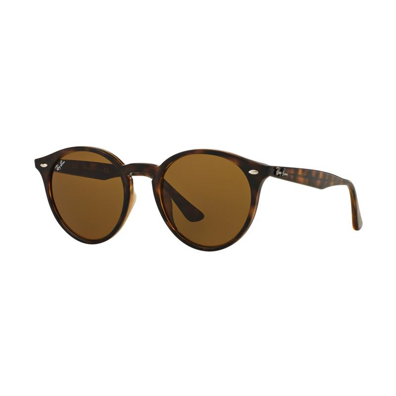 Ray-Ban RB2180F-710-73 Sunglasses - Dark Havana Dark Brown [Size 49]