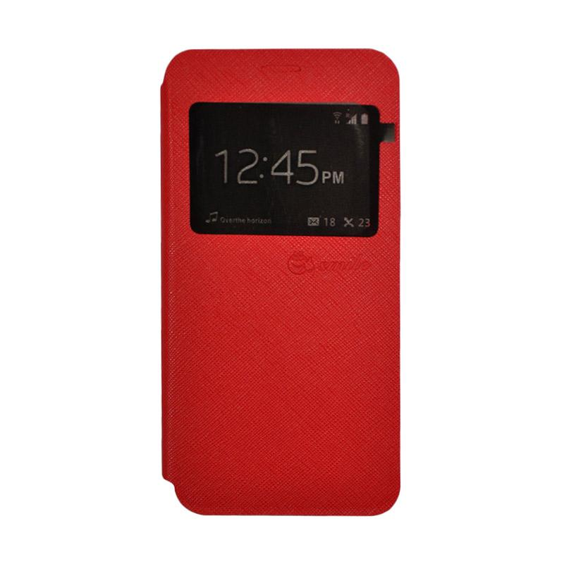 SMILE Standing Flip Cover Casing for Xiaomi Redmi 4A - Red