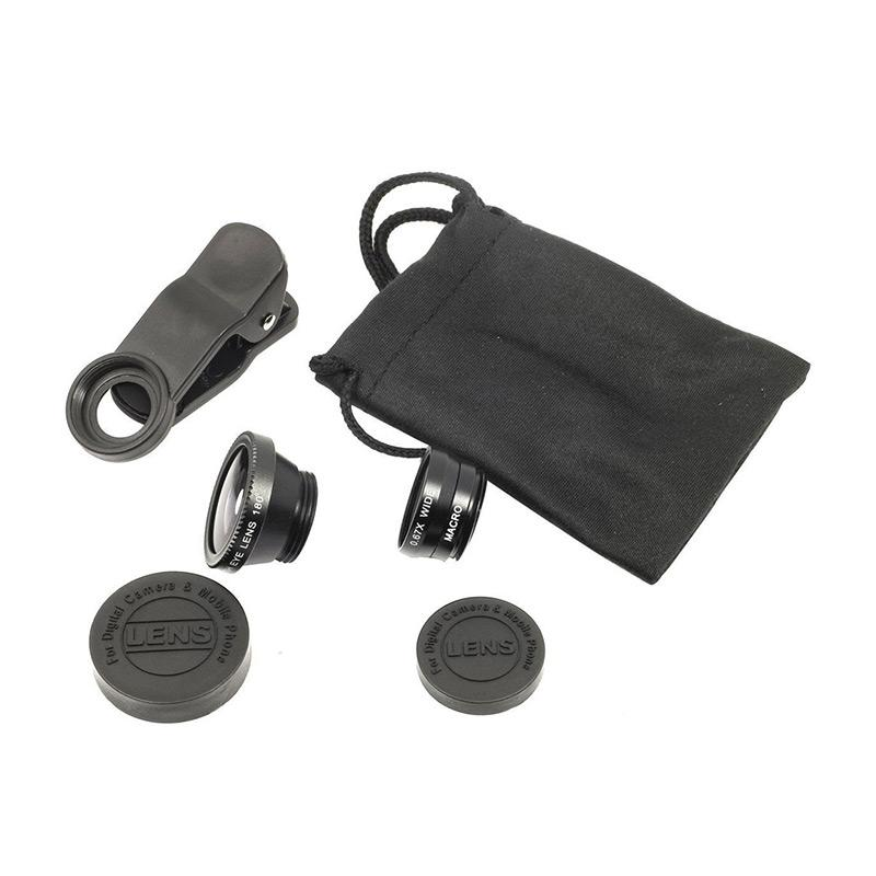 Universal Clip Lens 3 in 1 [Fish Eye/Macro/Wide Angle]