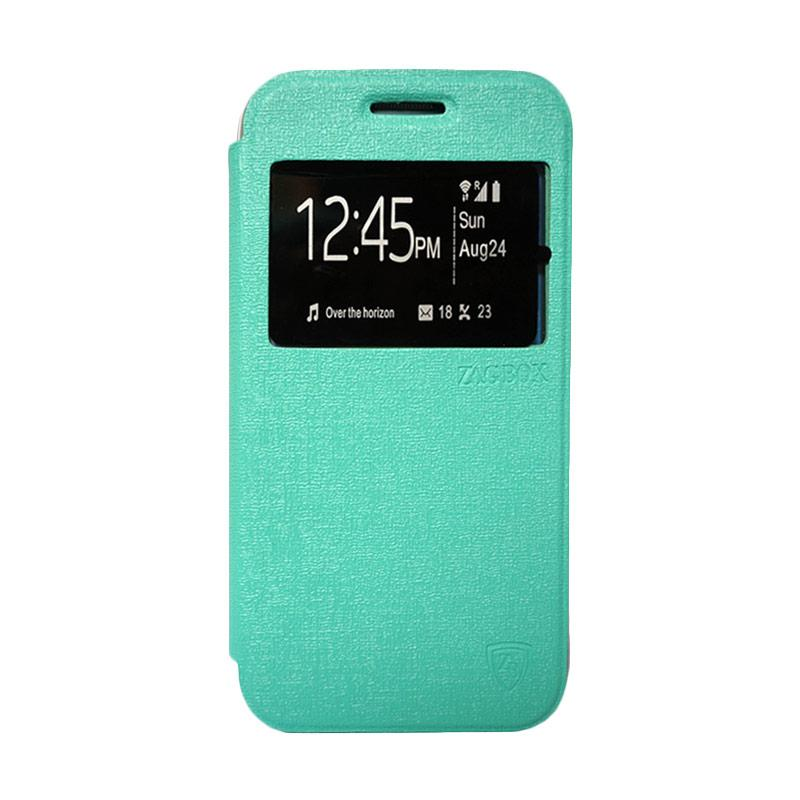 ZAGBOX Flip Cover Casing for Samsung Galaxy S6 Edge - Hijau Tosca
