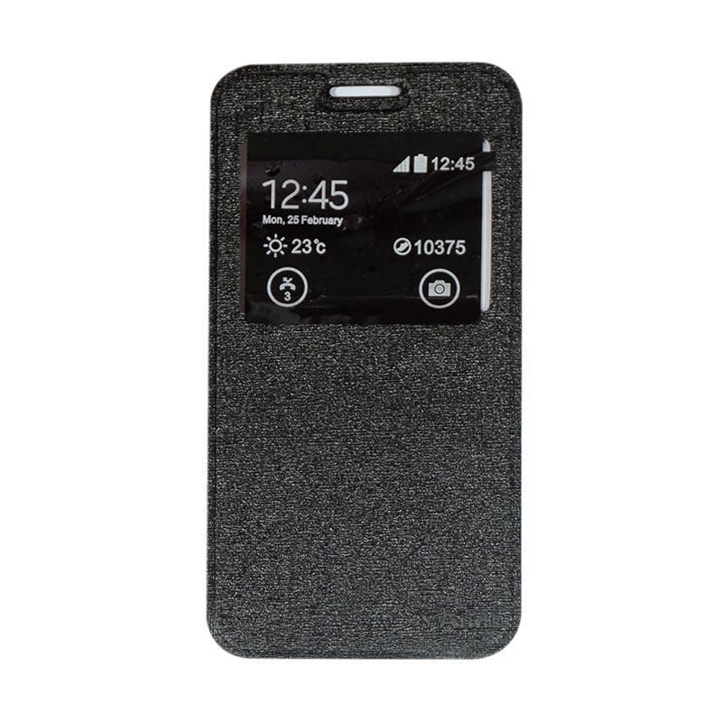AIMI Flipshell Flipcase Flip Cover Casing for Oppo A57 - Black