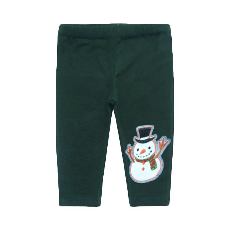 Bearhug Perempuan Snowman Panjang Legging Bayi - Hijau