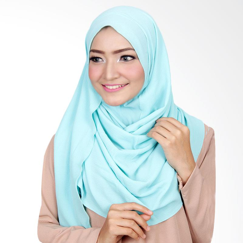 Cantik Kerudung Long Nadine Plain Instant Shawl Hijab - Light Blue
