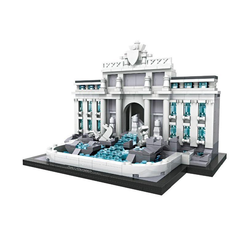 Loz Mini 015 Trevi Fountain Rome Mainan Blok dan Puzzle