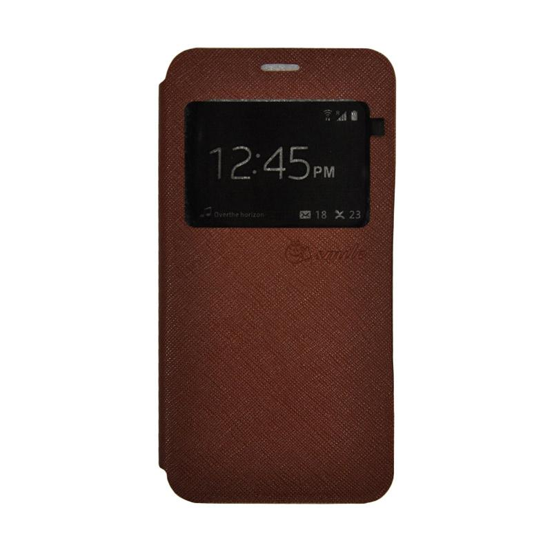 SMILE Standing Flip Cover Casing for Xiaomi Mi 5 - Brown
