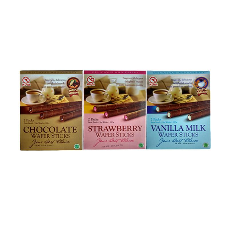 Kugi Wafer Sticks [Strawberry/ Vanilla Milk/ Chocolate]