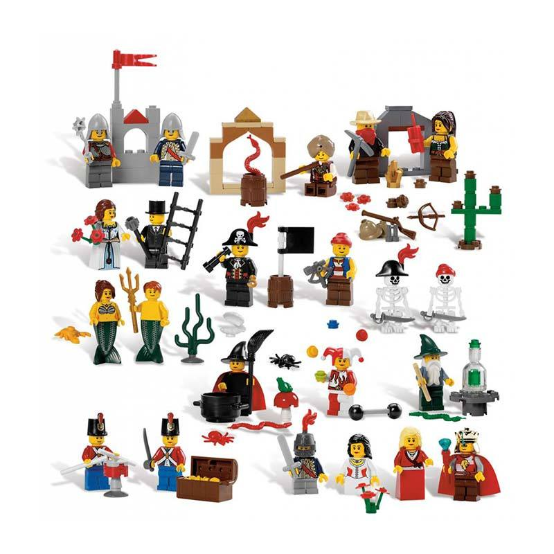 Lego 9349 Education Fairytale And Historic Set Minifigure Mainan Blok & Puzzle