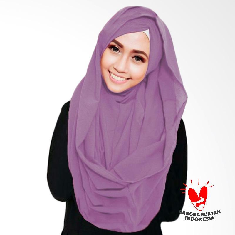 Milyarda Hijab Shiren Kerut Jilbab Instant - Lavender