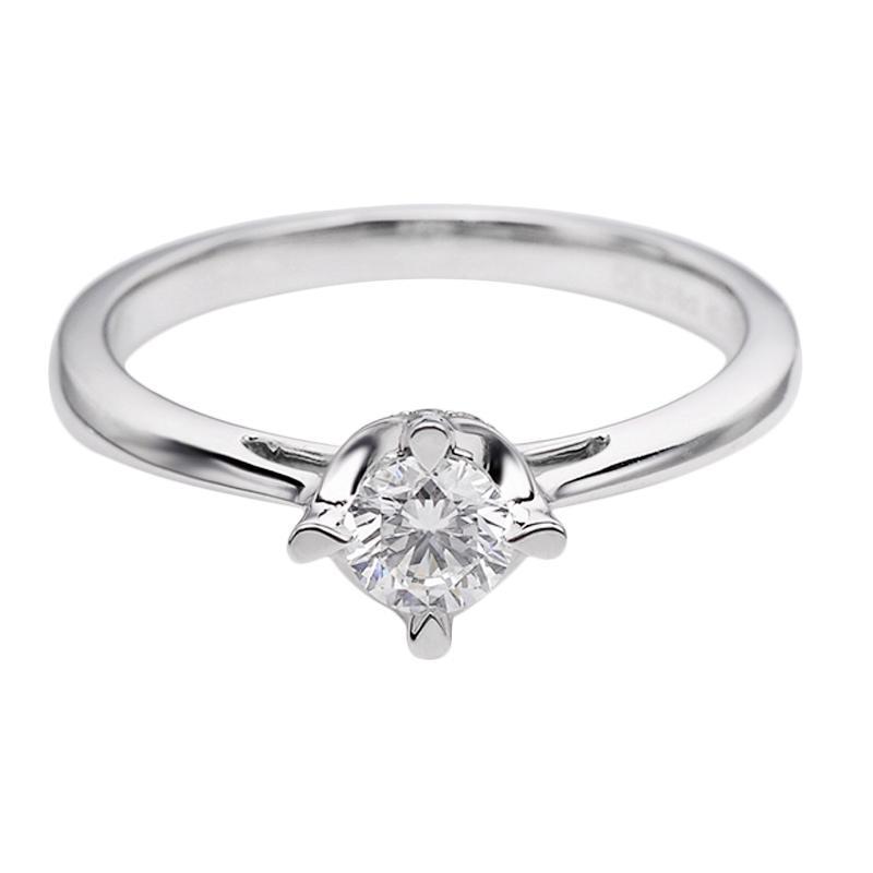 Tiaria DHTXDFJ037 Cincin Emas Putih Berlian - White Gold [18K]