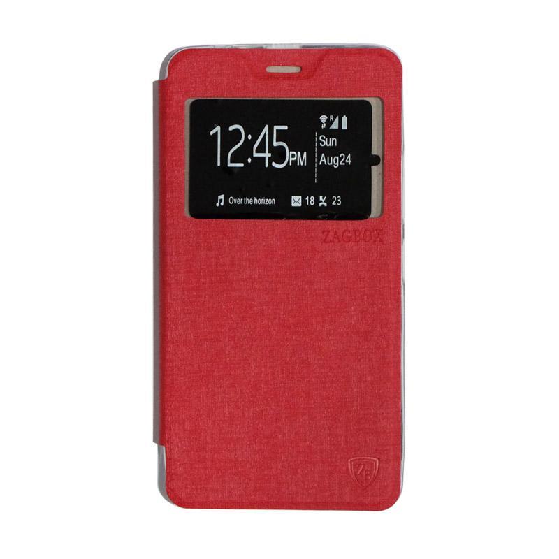 ZAGBOX Flipshell Flip Cover Casing for Lenovo A7700 - Red