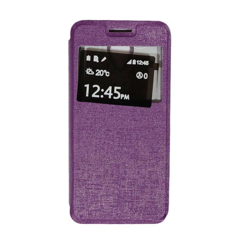 Aimi Flip Cover Casing for Smartfren Andromax L - Purple