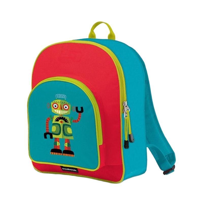 Crocodile Robot Creek Kids Sized Backpack - Green